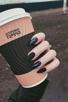 Installation of acrylic or gel nails - My Nails Witchy Nails, Goth Nails, Edgy Nails, Chic Nails, Grunge Nails, Stylish Nails, Black Nails, Trendy Nails, Black Manicure