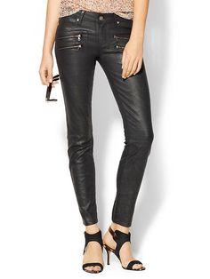 Wax Coated Skinny Jeans