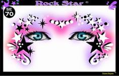 face painting stencils | Show Offs Stencil Eyes Rock Star—Face Painting Tips Shop