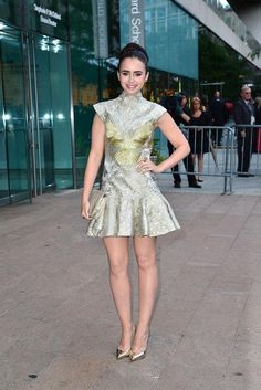Lily Collins' style and fashion transformation—her best red carpet looks over the years. CFDA Fashion Awards June 2012