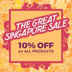 This is your best month of the year! Take advantage of The Great Singapore Sale only @singaprinting! Claim your 10% OFF coupon for orders above $267 only!