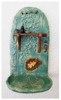 Pottery Wall Shelf by rikablue on Etsy, $42.00