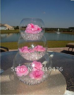 hot creative wedding party centrepiece decoration using glow inflatable water beads crystal pearl filler for vase decor US $120.00
