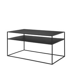 Blomus FERA salontafel Black Cart Coffee Table, Black Coffee Tables, Black Side Table, Coffee Table With Storage, Black Sideboard, Low Shelves, Nesting Tables, All Modern, Console Table