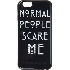 American Horror Story Normal People Scare Me iPhone 6 Case Hot Topic found on Po… American Horror Story Normal People Scare Me iPhone 6 Case [. Funny Phone Cases, Diy Phone Case, Iphone Phone Cases, Iphone Case Covers, American Horror Story, Le Happy, Top Fashion, Gothic Fashion, Fashion Women