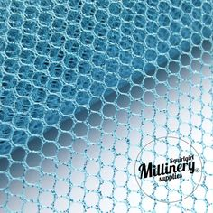 Glitter Mesh Netting Fabric Turquoise 45cm (17.7 Inches) Wide for Fascinators, Millinery & Wedding Craft 1 Yard