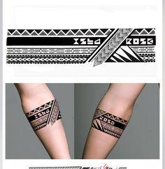 Tribal geometric armband tattoo designs girls with tattoos a Tribal Chest Tattoos, Tribal Band Tattoo, Wrist Band Tattoo, Forearm Band Tattoos, Tribal Shoulder Tattoos, Tattoos Geometric, Hand Tattoos, Paisley Tattoos, Tattoos Skull