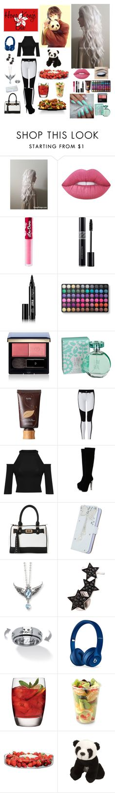 """Hong Kong's Bae"" by hetalia2013 ❤ liked on Polyvore featuring Lime Crime, Christian Dior, Eyeko, BHCosmetics, Clé de Peau Beauté, maurices, tarte, WearAll, IMoshion and Alinka"