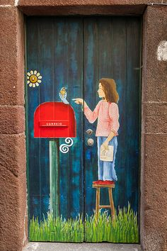 Rua de Santa Maria N. 79, Madeira Island, Portugal by Dmitri Korobtsov. painted door