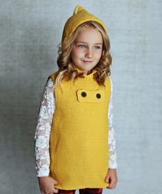 Look at this #zulilyfind! Mustard Hooded Sweater Vest - Toddler & Girls by Lollies and Lace Boutique #zulilyfinds