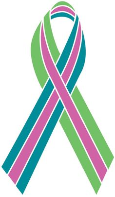 The metavivor ribbon for metastatic breast cancer research. This has caused cancer in my Grandma's bones, liver, cerebellum and spine! Please pray for her.