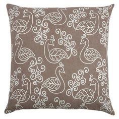Rizzy Home Preening Peacocks Throw Pillow (20 x 20) : Target