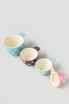 Pastel Polka Dot Measuring Cups