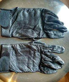 #Harley Harley Davidson Black Genuine Leather Breathable Riding Gloves Women's Large please retweet