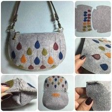 DIY leather case tutorial - time to get creativeLeather handbag pattern fast and easy sewing projects for beginners - for creative juiceGift bag in traditional style. You can only make a fabric gift bag Felt Purse, Diy Purse, Felt Bags, Felt Crafts Diy, Felt Diy, Bag Patterns To Sew, Sewing Patterns, Felt Patterns, Sewing Tutorials