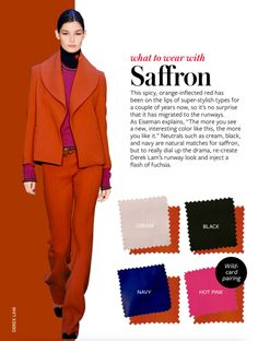What to wear with SAFFRON #whattowearwith