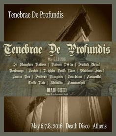 """ETOR Dark Ambient Festival """"Tenebrae de Profundis"""""""