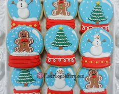 Day 12 of Cookie Videos: How to Decorate a Snow Globe Cookie
