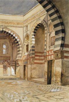 Edwin Lord Weeks - Courtyard, North Africa