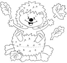 1 million+ Stunning Free Images to Use Anywhere Fall Paper Crafts, Autumn Crafts, Diy And Crafts, Crafts For Kids, Felt Patterns, Craft Patterns, Animal Coloring Pages, Coloring Books, Hedgehog Craft