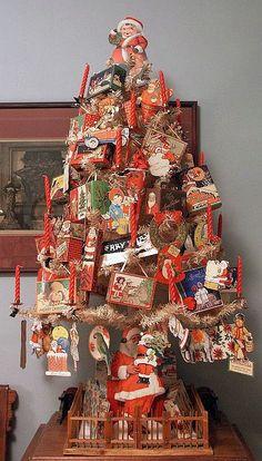 Candy Box Tree Old Christmas Antique Christmas Retro Christmas Vintage Christmas Cards