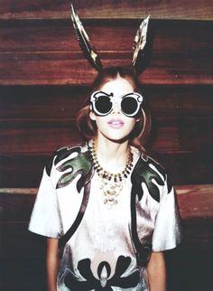 I wear my sunglasses at night...