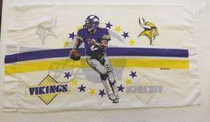 Vintage NFL MINNESOTA VIKINGS Pillowcase Standard 1993 #MinnesotaVikings