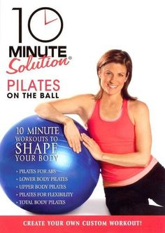 10 Minute Solution: Pilates on the Ball - - No time to exercise? We have the solution for you the 10 Minute Solution! Everyone can find at least ten minutes in their day, and we ve developed 5 Pilates Body, Pilates Workout, Butt Workouts, Home Exercise Routines, Do Exercise, Excercise, Lose 15 Pounds, Losing 10 Pounds, Workout Dvds
