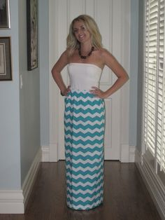 Chevron Maxi Skirt  Size Small by AnniesApparel on Etsy, $23.00
