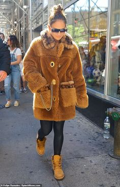 Global Citizen, Second Child, Fall Dresses, Jennifer Lopez, Mail Online, Daily Mail, Fur Coat, Plush, Nyc