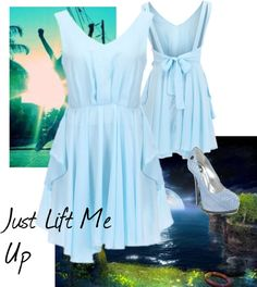 """Just Lift Me Up"" by lglex on Polyvore. Love the pastel blue for spring!"