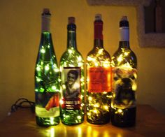 Instructions on how to make wine bottle lights- I need to go to the cabin where there are more power tools....