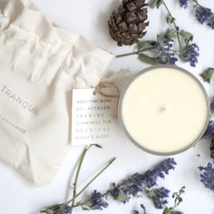 TRANQUIL - SCENTED VOTIVE/TRAVEL CANDLE - Sushou Organics #Tranquil #Seasonal #Scents #Sleep #Restore #sushou #organics