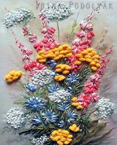 "Silk ribbon embroidery ""Mid summer"" - full kit"