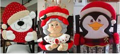 Aprende con Sara: Moldes Completos para hacer estos cubre sillas navideños, Ideales para decorarlas todas Elf On The Shelf, Margarita, Christmas Holidays, Ronald Mcdonald, Disney Princess, Holiday Decor, Disney Characters, Diana, Home Decor