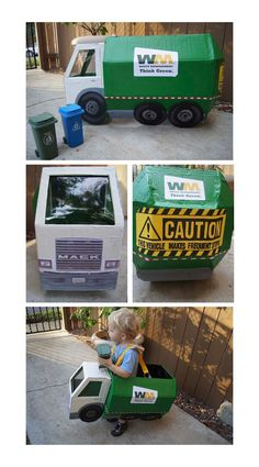 Life is Sweet and Sour: The Boy's Garbage Truck Costume