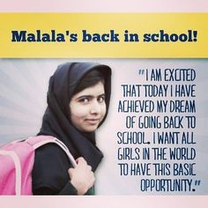 Malala rocks! A superhero if ever there was one!