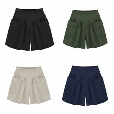 Women Hot Pants Plus Size Summer Casual Beach Shorts High Waist Loose Shorts US Outfits Plus Size, Plus Size Shorts, Loose Shorts, High Waisted Shorts, Looks Plus Size, Plus Size Summer, Hot Pants, Gym Shorts Womens, Short Dresses