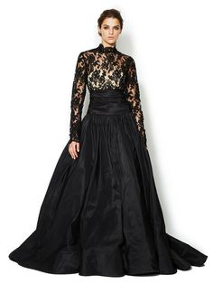 Not your mother's wedding dress. Silk Lace Bodice Full Taffeta Skirt Gown - Marchesa Couture