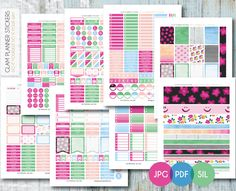 Free Monthly Printable Planner Stickers Set - Flowers - Erin Condren