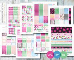 Free Monthly Printable Planner Stickers Set - Flowers - Erin Condren