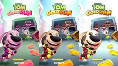 Talking Tom Gold Run Color Gameplay - Talking Tom Angela Raccoon Catch Toms, Watch, Youtube, Color, Colour, Clocks, Wrist Watches, Youtubers