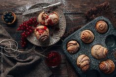 Cinnamon Rolls with Raspberry Glaze