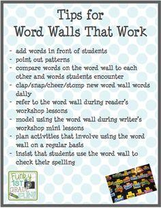 Funky First Grade Fun: struggling readers Word Wall Kindergarten, Kindergarten Language Arts, Kindergarten Reading, Teaching Reading, Teaching First Grade, First Grade Reading, First Grade Classroom, Primary Classroom, Classroom Themes