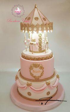 carousel with light cake - http://cakesdecor.com/cakes/262621-carousel-with-light-cake