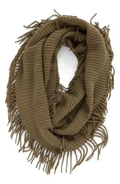 BP. Rib Knit Fringe Infinity Scarf available at #Nordstrom