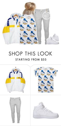 """""""31017 Who wants a shoutout? Comment please and whoever wants one you will get one"""" by princess-sinia ❤ liked on Polyvore featuring Tommy Hilfiger, Neff, NIKE and Topshop"""