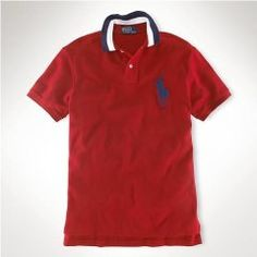 fa103228ea377 Classic-Fit Big Pony Polo Tipped Rouge Cheap Ralph Lauren Polo