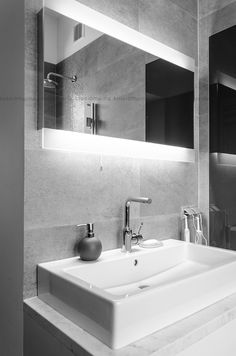 project: www.studiomalina.pl Bathroom Lighting, Mirror Glass, Interior Design, Furniture, Studio, Home Decor, Bathroom Light Fittings, Nest Design, Bathroom Vanity Lighting