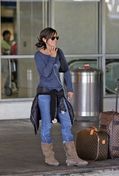Vanessa Marcil Photos - David Charvet, Brooke Burke and Vanessa Marcil at LAX - Zimbio